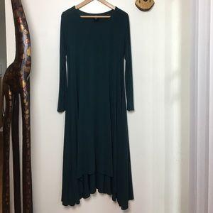 Agnes & Dora Teal Earhart long sleeve dress